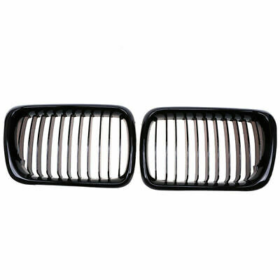 $45.66 • Buy 2x Front Kidney Gloss Black Grill Grille Trim For BMW E36 M3 1997-1999 Facelift