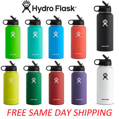 $24.98 • Buy Hydro Flask Stainless Steel Water Insulated Bottle Straw Lid -US Seller-18 Oz