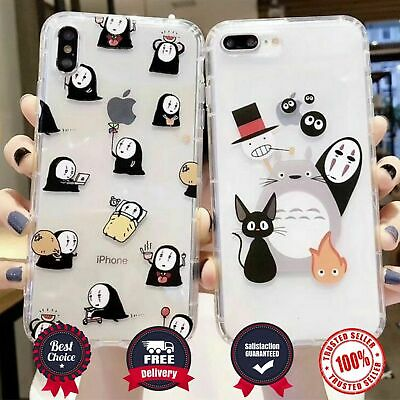 Totoro Spirited Away Soft Clear Case For IPhone 11 11pro XR X 6 7 8Plus XS Max • 9.67£