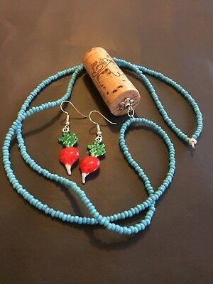 Luna Lovegood Butterbeer Necklace And Radish Earrings Set • 13.99£