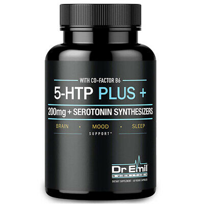 $ CDN36.23 • Buy Dr. Emil 5-HTP Plus 200 MG Serotonin Synthesizers And Cofactor B6 60 Veg Caps