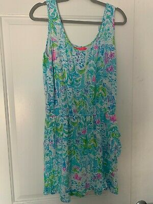 $48 • Buy Lilly Pulitzer Analee Romper Multi What A Lovely Place Size L
