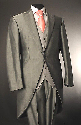£28.79 • Buy Men's Silver Mohair Two Piece Formal Tails Suit Ascot/wedding/tailcoat Mj-203