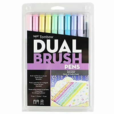 Tombow Pencil Dual Brush Pen Twin Type Water-based Ink Pastel10 Colors Set • 28.19£