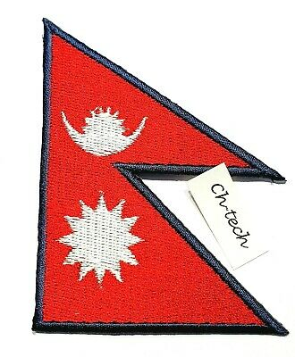 Nepal Flag Embroidered Patch Kathmandu Nepali Country National Clothes Badge • 1.75£