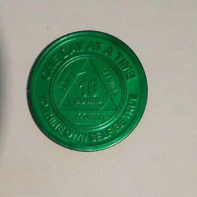 $2.30 • Buy Aa Alcoholics Anonymous 10 Month Recovery Sobriety Chip Coin Token Medallion