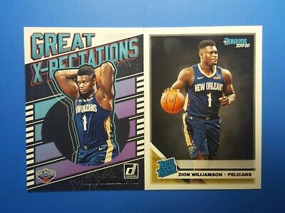 $10.95 • Buy ZION WILLIAMSON Lot 2019-20 Donruss RATED ROOKIE#201 & Great X-Pectations #7