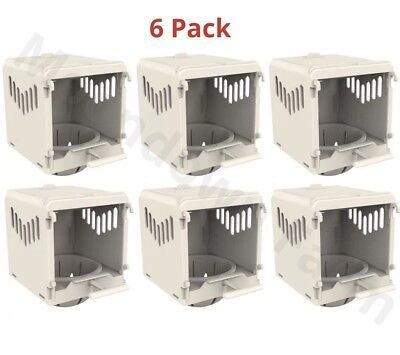 6X Canary Nest Pan Luxury External Cage Nest Box For Canary And Aviary Birds • 33£