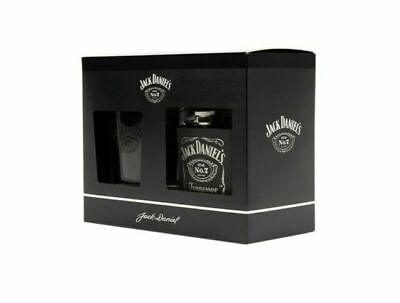 RRP £16 New Boxed Jack Daniel's Glass Tumbler & Hip Flask Official Gift Set  • 12.99£