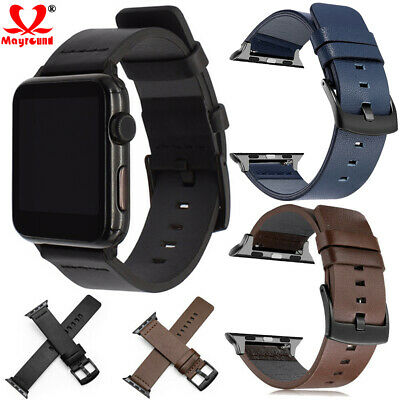 $ CDN7.73 • Buy Genuine Leather Watch Band Strap For Apple IWatch Series 5 4 3 38/42mm 40/44mm