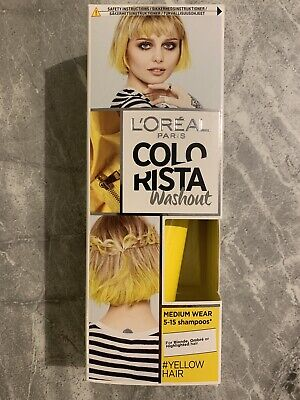 Loreal Colorista Washout YELLOW Semi-Permanent Hair Dye Colour NEW • 5£