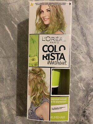 Loreal Colorista Washout GREEN Semi-Permanent Hair Dye Colour NEW • 5£