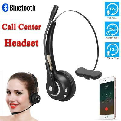 £16.40 • Buy Wireless Bluetooth Call Center Telephone Headset Noise Cancelling + Microphone