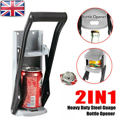 Heavy Duty Large 16oz 500ml Metal Tin Beer Big Can Crusher Squasher Wall Mount • 7.69£
