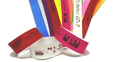 £1.50 • Buy Wristbands Custom Printed Add Text Logos Personalised Tyvek Paper 1 Inch Event