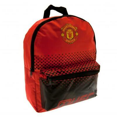 Manchester United Official Crest Junior Nylon Backpack School Bag Junior School • 14.99£