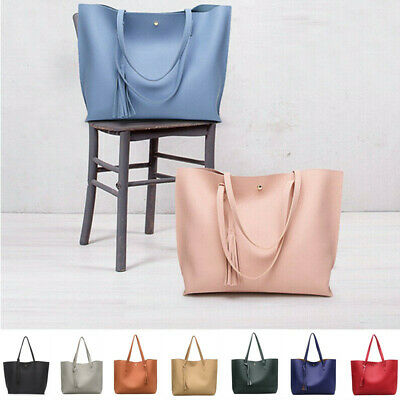 AU17.99 • Buy Women Fashion Synthetic Leather Tote Bag Shoulder Bag Lady Handbag Tote Satchel