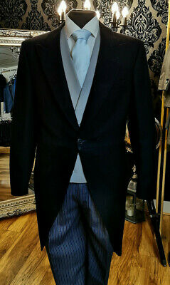£28.79 • Buy Mens Dark Navy Two Piece Wool Tailcoat / Wedding / Morning Suit Tails Mj-205