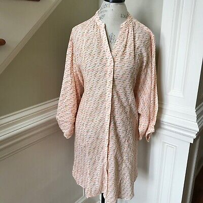 $ CDN45.17 • Buy NWT Anthropologie Maeve Tunic Shirt Womens Large Orange Button Down Loose Fit