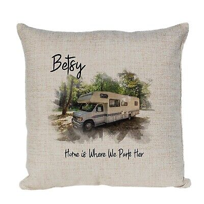 Personalised Cushion With YOUR PHOTO Of YOUR Campervan, Caravan, Motor Home  • 13.99£
