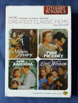 30s/40s FILMS Little Women/Pride And Prejudice/Madame Bovary/Anna Karenina 4 DVD • 24.99£