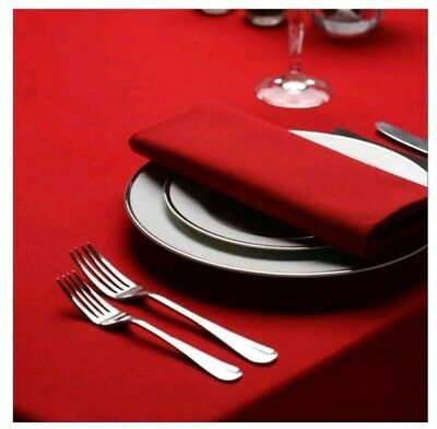 £9.99 • Buy 4 X Red Cotton Napkins Square Banquet Christmas Function 40 X 40cm NEW