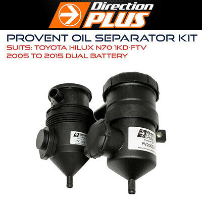 AU367.95 • Buy ProVent Oil Separator Kit To Suit Toyota Hilux N70 1KD-FTV 05-15 Dual Battery