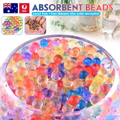 AU5.81 • Buy Orbeez Crystal Soil Water Balls Jelly Gel Beads For Vase Home Wedding 9-13mm AU