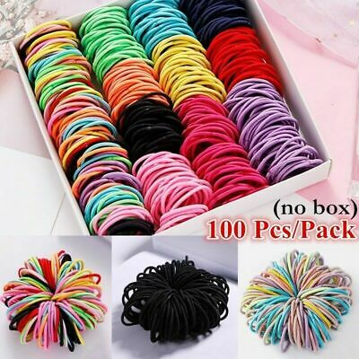 $2.49 • Buy 100Pcs Kids Girl Elastic Rope Hair Ties Ponytail Holder Rubber Band Hairband USA