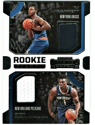 $9.95 • Buy Zion Williamson & Rj Barrett 2019-20 Contenders Rookie Ticket Dual Patches