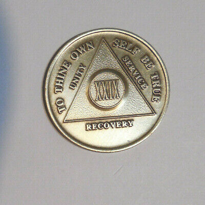 $3.20 • Buy Aa Alcoholics Anonymous Bronze 29 Year Recovery Sobriety Coin Chip Token