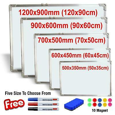 Magnetic Whiteboard Small Large White Board Dry Wipe Notice Office School Home • 19.99£