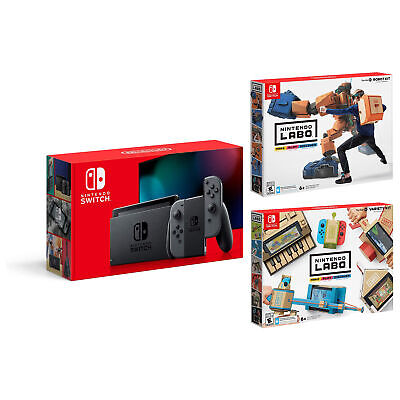 $359.95 • Buy Nintendo Switch 32GB Console Bundle With Variety And Robot Toy Con Kits