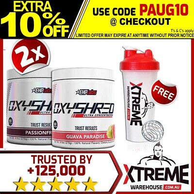 AU112.90 • Buy 2x Oxyshred By Ehplabs 60 Srv Thermogenic Fat Burning Weight Loss Twin Pack