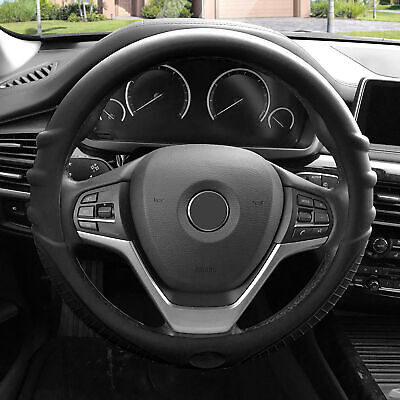 $15.97 • Buy Silicone Steering Wheel Cover Top Quality Grip Marks Design Black For Auto