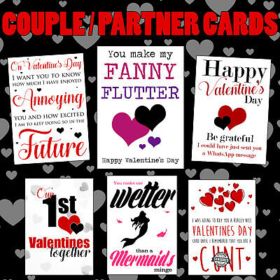 AU5.39 • Buy Funny Valentines Day Card Rude Birthday Anniversary Him Her Cheeky Naughty Adult