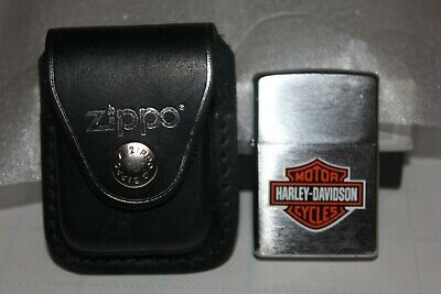 $15 • Buy Harley Davidson Zippo Lighter With Zippo Pouch In Nice Condition