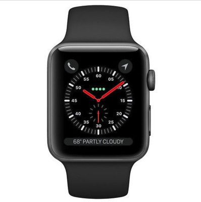 $ CDN274.70 • Buy Apple Watch Series 3 (GPS) 42mm Space Gray Aluminum Case With Black Sport...