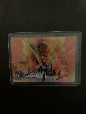 $49.99 • Buy Zion Williamson Autograph!!! Hand Signed Auto On A Trading Card! Comes W/ COA !!