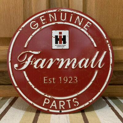 AU57.01 • Buy Farmall IH Genuine Parts Farm Equipment Signs Implements Tractors Vintage Style