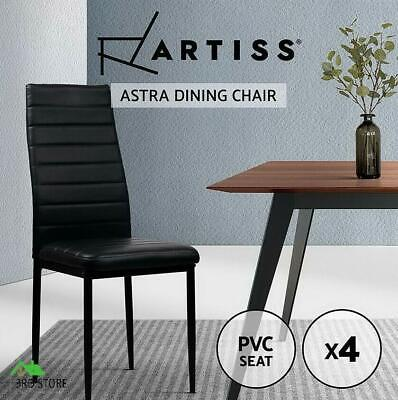 AU193.96 • Buy Artiss 4x Astra Dining Chairs Set Leather PVC Stretch Seater Chairs