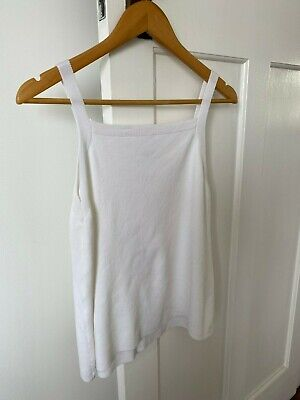 AU20 • Buy *WITCHERY WHITE TOP Knitted Square Neckline SIZE XS (WILL FIT 6-8*