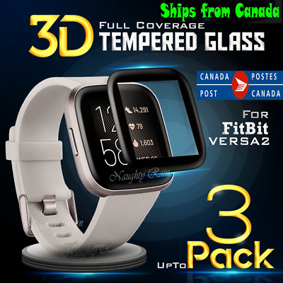 $ CDN3.99 • Buy 2X Tempered Glass LCD Clear Screen Protector Film Guard For Fitbit Versa 2