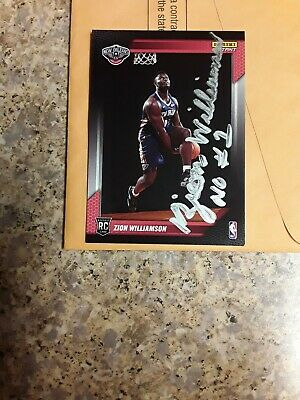 $88 • Buy Panini Autographed 2019 Zion Williamson  1st True Rookie Card New Orleans Rare