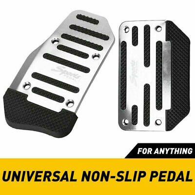 $22.79 • Buy Universal Silver Car Interior Foot Rest Pedals Pad Cover Car Accessories Durable