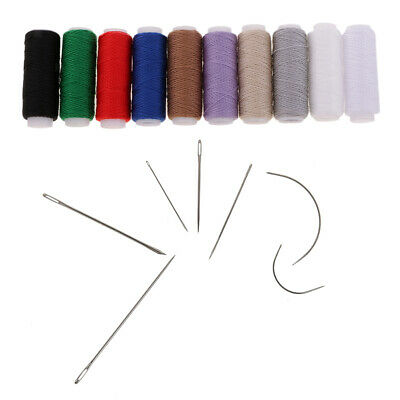 £3.39 • Buy Upholstery Canvas Repair Hand Stitching Sewing Needles Thread Spools Kit DIY