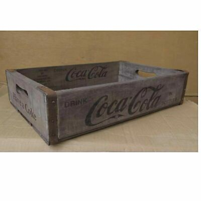 Wooden Vintage Coca Cola Crate Tray Classic Retro Coke Bottle Display Box Grey • 27.99£
