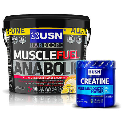 USN Muscle Fuel Anabolic 4kg + *FREE* Creatine 500g • 54.99£