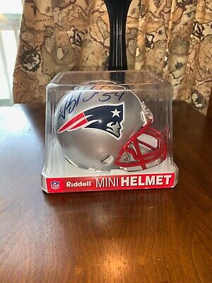 $39 • Buy Tedy Bruschi Signed NFL Patriots Mini Helmet Riddell Certification GA
