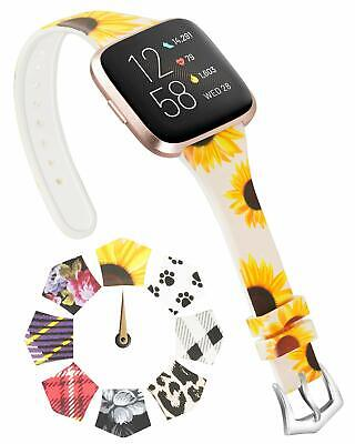 $ CDN16.51 • Buy Bands For Fitbit Versa 2 Versa Lite Versa Special Edition,Narrow Floral Silicone